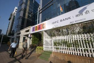 Shares of IDFC Ltd fell 5.7% while IDFC Bank Ltd gained 0.7%. Photo: Aniruddha Chowdhury/Mint