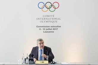 International Olympic Committee (IOC) president Thomas Bach speaks prior to the opening of the IOC executive board meeting, in Lausanne on Monday. Photo: AP