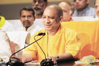 Yogi Adityanath presented the first budget of his government on Tuesday maintaining his focus on the key constituencies that voted the BJP to power after 15 years. Photo: Hindustan Times