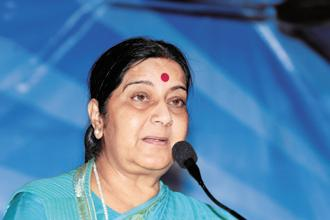 External affairs minister Sushma Swaraj said officials at the Indian consulate in Jeddah were providing her regular updates. Photo: Mint