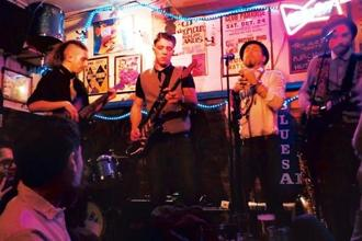 Cornwall-based blues band The Big Sets playing a live gig at Ain't Nothin But Blues Bar in December 2016.
