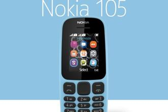 The new Nokia 105 features a new ergonomic design, better battery life, a larger screen size and new tactile island keymat, HMD said. Photo: Nokia website