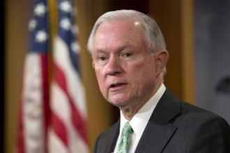 Attorney General Jeff Sessions was one of the first senior Republican politicians to endorse Donald Trump before last November's election and was rewarded by being appointed America's top law enforcement officer. Photo:  AP