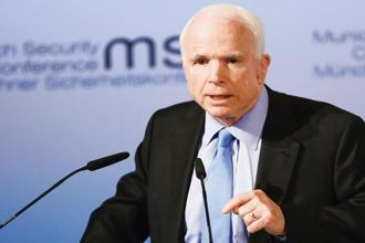 John McCain, who was re-elected for the sixth term as senator in 2016, is currently the chairman of the senate armed services committee. Photo: Reuters