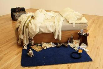British artist Tracey Emin's conceptual artwork 'My Bed' at the Tate Britain in London. Photo: Paul Hackett/Reuters