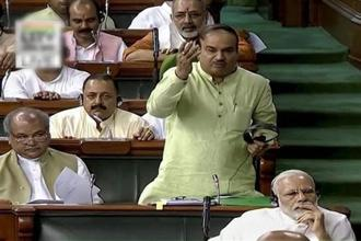 Citing schemes like farm insurance and easy availability of fertilizers, parliamentary affairs minister Ananth Kumar said no government had done so much for farmers as the Modi government did in the last three years. Photo: PTI