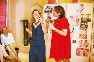Celine Roux, fragrance director (in blue), and Debbie Wild, lifestyle director, at Jo Malone London's soft launch at Amanbagh, Jaipur, in April. Photo: Jo Malone London.