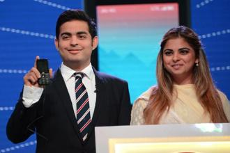 The Reliance JioPhone unveiled by Akash Ambani and Isha Ambani at the company AGM on Friday. Any set of pre-installed apps—Reliance Jio apps or not, doesn't matter—on a handset where the consumer cannot install competing apps, flirts with the boundaries of net neutrality.