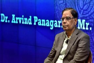 NITI Aayog vice chairman Arvind Panagariya. Photo: PTI