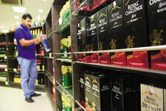 The impact of Supreme Court's ban of highway liquor stores will spill over into the next two quarters as well but to a lesser extent, said United Spirits in its Q1 result. Photo: Ramesh Pathania/Mint