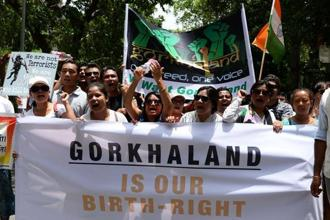 The Gorkhaland Janmukti Morcha (GJM) has plans to hold rallies in various parts of the hills in demand of separate state of Gorkhaland. Photo: PTI