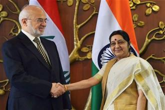 The issue of the missing Indians was raised by external affairs minister Sushma Swaraj during talks with her Iraqi counterpart Ibrahim al-Jaafari. Photo: PTI