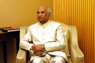 Former Bihar governor Ram Nath Kovind was sworn in as the 14th President of India. Photo: AP