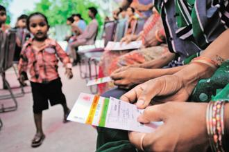 A total of about 116.09 crore Aadhaar numbers have been generated up to 21 July 2017, of which about 115.15 crore have been despatched. Photo: Priyanka Parashar/Mint