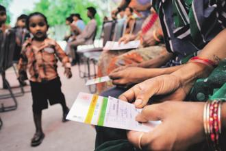 The officials said final decision on the privacy issues related to Aadhaar would be taken only after a verdict of the Supreme Court. Photo: Priyanka Parashar/Mint