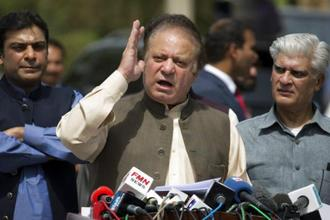 Nawaz Sharif in Islamabad. Photo: AP