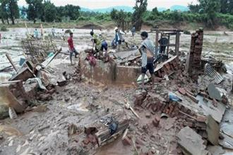 Landslides and floods triggered by heavy rains continued to wreak havoc in many parts of the country killing several people. Photo: PTI