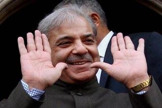 Shahid Khaqan Abbasi, nominated by Nawaz Sharif's party PML-N as Pakistan's interim prime minister, would later make way for Sharif's brother Shehbaz (in pic). File photo: PTI