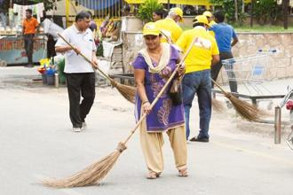 The cleanliness survey was launched in 2016 as part of the Swachh Bharat Mission. Photo: HT