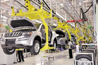 A file photo of a Mahindra and Mahindra plant. The company has 10 vehicle platforms across several product categories. The average cost of calibrating and developing each of these platforms for BS VI could be anywhere between Rs75-100 crore, the firm says. Photo: