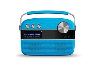Saregama Carvaan looks like the classic radio transistor, but it is actually a music player with preloaded music.