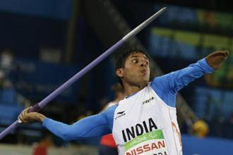 Javelin thrower Devendra  Jhajharia, the first Indian to win two Paralympic gold medals, was the first choice of the awards selection committee headed by Justice (Retd) C.K. Thakkar. Photo: AP