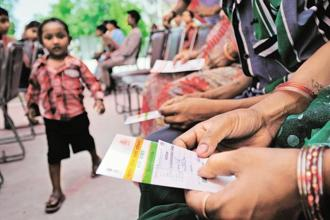 Aadhaar number has been made mandatory for a range of services and schemes -for bank accounts, to file taxes, for tuberculosis patients. Photo: Priyanka Parashar/Mint