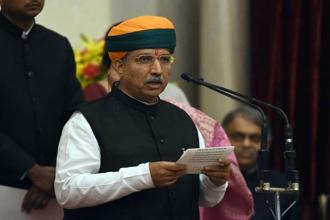 MoS for finance Arjun Ram Meghwal said specific banknotes received are to be reconciled to obviate reporting errors and processed for numerical accuracy and authenticity through machines. Photo: AFP
