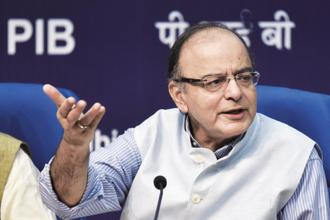 Finance minister Arun Jaitley. E-way bill rules and the finer aspects of implementing the anti-profiteering mechanism are the two remaining legislative tasks before the GST Council. Photo: HT