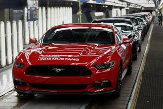 In 2016, Ford started selling the Mustang Shelby GT350, a track-focused version with a souped-up engine and bigger brakes. File photo: Bloomberg