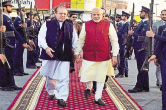 Former Pakistan prime minister Nawaz Sharif and India's Narendra Modi. It is said that, in general, Sharif was not averse to a friendly relationship with India. Photo: AFP