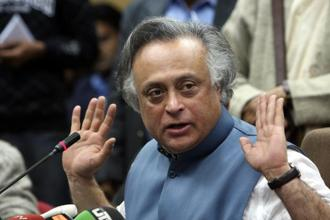 Jairam Ramesh hoped that Congress vice-president Rahul Gandhi would end the uncertainty over his taking over as party president. Photo: HT