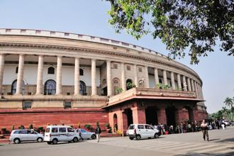 The Congress party disrupted proceedings in the Rajya Sabha over the issue. Photo: Mint