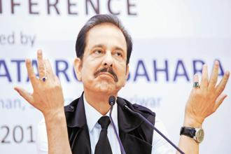 Sahara Group chief Subrata Roy. The matter of Aamby Valley auction was put before a Supreme Court bench headed by justice Dipak Misra, who said that the issue would be taken up at a later date. Photo: AFP
