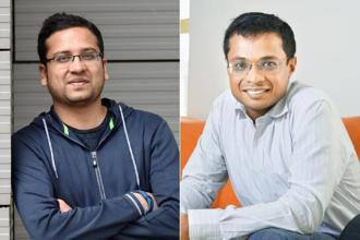 Flipkart founder Binny Bansal (left) and Sachin Bansal. Both SoftBank and Tiger Global Management will end up owning 20-25% in Flipkart after the $2.6 billion investment. Photo: Hemant Mishra/Mint