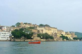 The city palace in the background of Lake Pichola. Photo: Chaitali Patel