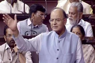 Arun Jaitley said not even one rupee of the corporates has been written off by the government. Photo: PTI