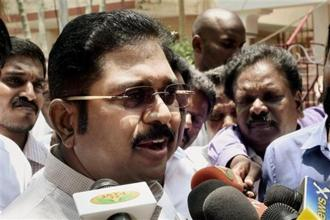 "T.T.V. Dhinakaran accused Tamil Nadu chief minister Edappadi K. Palaniswami of trying to prevent MLAs from participating in the meeting and added that the MLAs were being ""held captive in Chennai."" Photo: PTI"