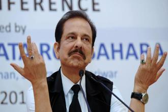 Sahara chief Subrata Roy. Sahara Group has pegged the market valuation of Aamby Valley at over Rs1 trillion. Photo: AFP