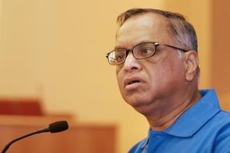 A file photo of Infosys co-founder Narayana Murthy. Photo: Bloomberg