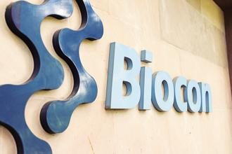 Biocon shares closed 5.9% lower at Rs328.80 on the BSE after falling as much as 7.54% in the session. Photo: Hemant Mishra/Mint