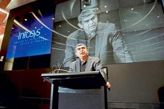 Vishal Sikka's departure at Infosys followed months of friction between the company board and founders led by N.R. Narayana Murthy, who has alleged corporate governance lapses, including in the $200 million purchase of Israeli automation technology firm Panaya.  Photo:AP