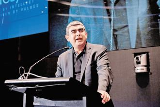 Vishal Sikka will continue in Infosys in a newly created role as executive vice-chairman, while India's iconic IT brand will be headed by U.B. Pravin Rao as the interim CEO. Photo: Aniruddha Chowdhury/Mint