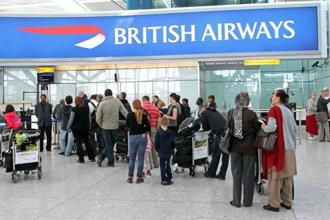 Shares in International Consolidated Airlines, which operates British Airways, and easy Jet were the biggest fallers among the blue chips, both down more than 2% as the broader European travel & leisure sector dropped 1.4%. Photo: Bloomberg