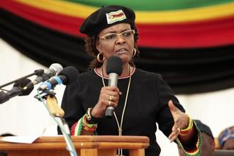 Police have put border posts on 'red alert' to prevent Grace Mugabe fleeing and indicated she will receive no special treatment. Photo: AP