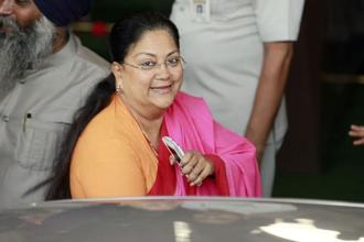 File photo. The Gujjar delegation led by Kirori Singh Bainsla and the ministerial subcommittee members met chief minister Vasundhara Raje at her official residence. Photo: HT