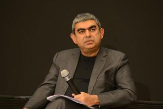 Vishal Sikka took charge as Infosys' first non-founder CEO in 2014, prior to which the top post at the company was held by one or other founders of the country's second largest IT firm. Photo: Hemant Mishra/Mint
