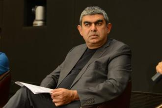 Vishal Sikka has promised he will stay on long enough to ensure a smooth transition in Infosys. He is to continue as executive vice-chairman until the time the transition is over, after which he 'wants to go surfing'. Photo: Hemant Mishra/Mint