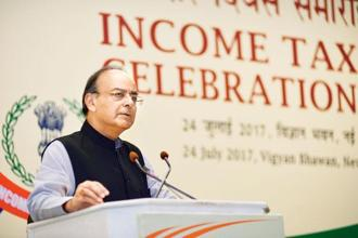 "The finance ministry statement also clarified that finance minister Arun Jaitley's statement  in May regarding the addition of 9.1 million taxpayers to the tax base referred to the total number of new returns filed during financial year 2016-17 and, therefore, is neither comparable to data in PM's speech nor with data in Economic Survey as it referred to a ""different period and different type of taxpayers"". Photo: Pradeep Gaur/Mint"