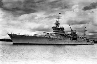 The World War II cruiser USS Indianapolis (CA 35), which was lost on 30 July 1945 is seen at Pearl Harbour, Hawaii, US circa 1937. Photo: Reuters